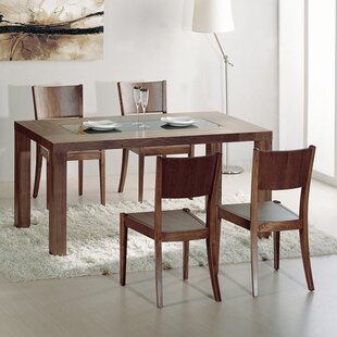 5 Piece Solid Wood Dining Set By Hokku Designs