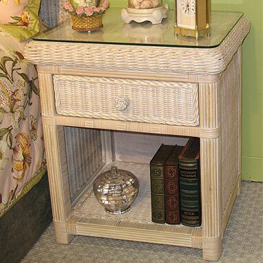Pavilion 1 Drawer Nightstand by Wicker Warehouse