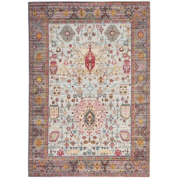 Lake Blue/Red Area Rug by World Menagerie