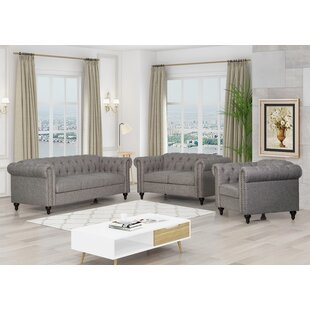 Swisher 3 Piece Living Room Set by Alcott Hill®