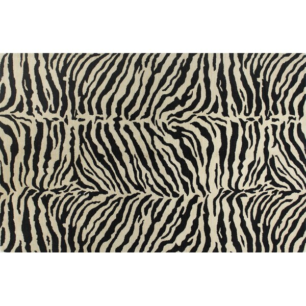 Sarana Hand-Tufted Black Area Rug by World Menagerie