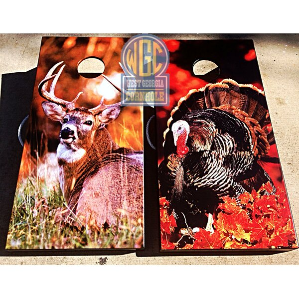 Deer and Turkey 10 Piece Cornhole Set by West Georgia Cornhole