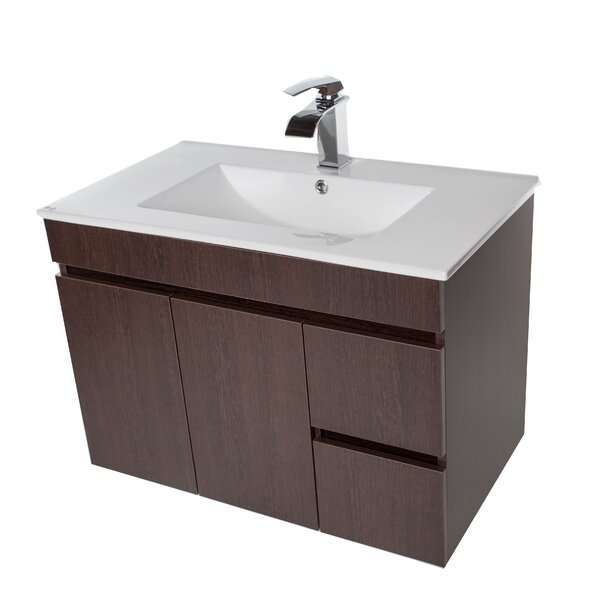 Lofland 41 Wall Mounted Single Bathroom Vanity Set by Ivy Bronx