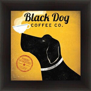 'Black Dog Coffee Company' by Ryan Fowler Framed Vintage Advertisement by Winston Porter