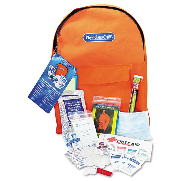Personal Emergency First Aid Kit, Back Pack by Acme United Corporation