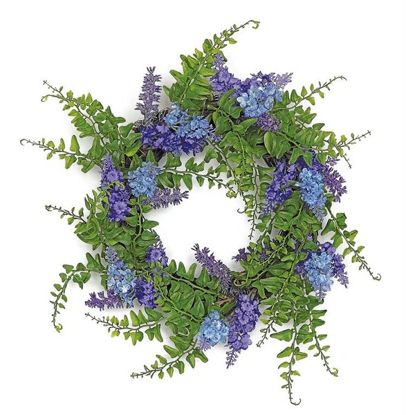 Lavender Mixed Fern Wreath Candle Ring by August Grove