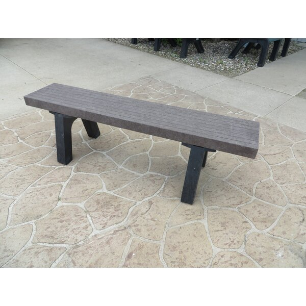 Silver Plastic Picnic Bench by Freeport Park