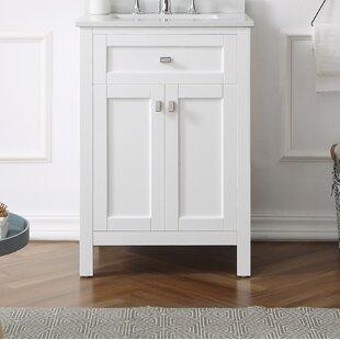 Compare prices Tishie 24 Single Bathroom Vanity Set ByEbern Designs
