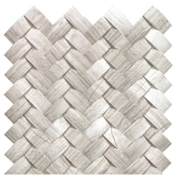 Mystic Marble Mosaic Tile in Off White by MSI