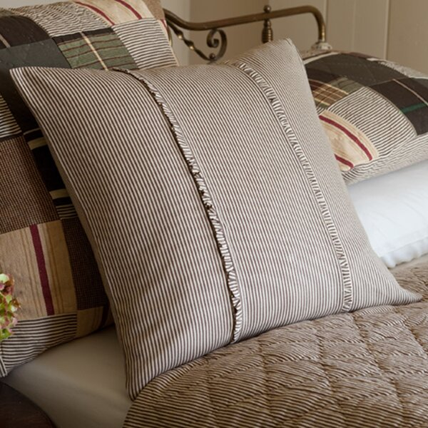 Cordele Stripe Porch Cotton Throw Pillow by Eider & Ivory