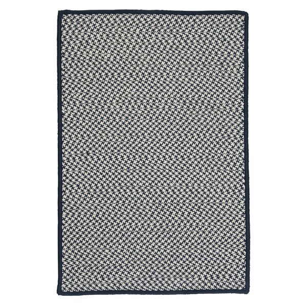Outdoor Houndstooth Tweed Navy Rug by Colonial Mills