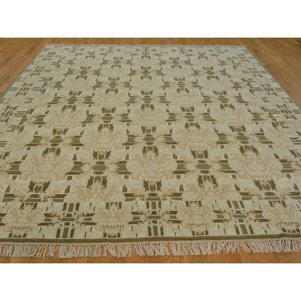 One-of-a-Kind Bettine Classic Design Hand-Knotted Brown Wool Area Rug by Isabelline