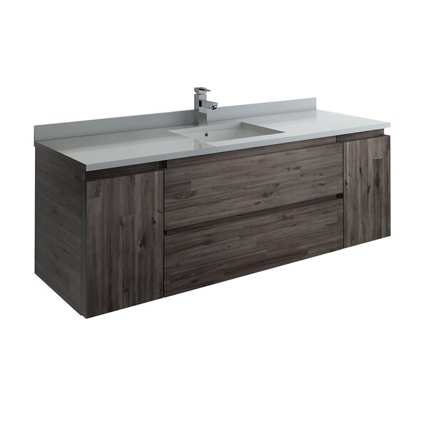 Formosa Wall Hung 59 Single Bathroom Vanity Base Only
