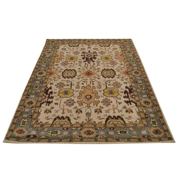 Auger Hand-Tufted Wool Cream Area Rug by Bloomsbury Market