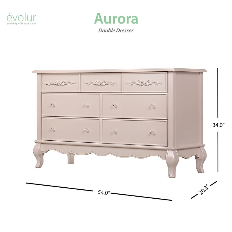 Evolur Aurora 7 Drawer Dresser