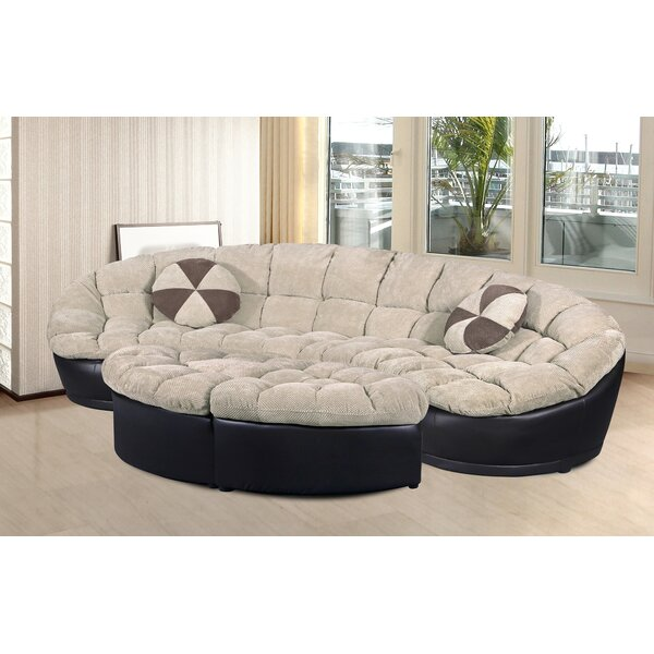 Cheap Price Quillian Symmetrical Sectional With Ottoman