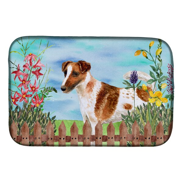 Smooth Fox Terrier Spring Dish Drying Mat by Caroline's Treasures