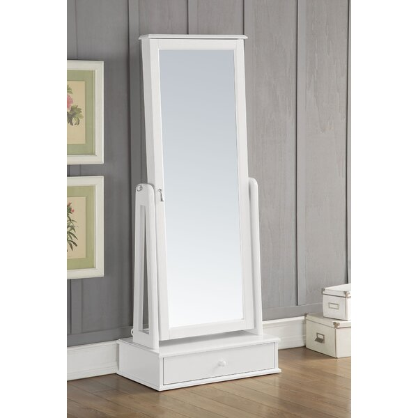 Traci Free standing Jewelry Armoire with Mirror by A&J Homes Studio