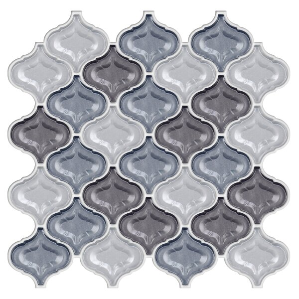 Lantern Glass Mosaic Tile in Silver Gray by Byzantin Mosaic