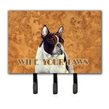 French Bulldog Wipe Your Paws Leash Holder and Key Hook by Caroline's Treasures
