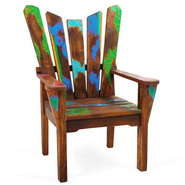 Dock Holiday Solid Wood Adirondack Chair by EcoChic Lifestyles