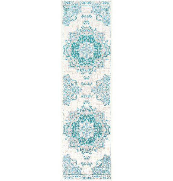 Gerena Blue/White Area Rug by Bloomsbury Market