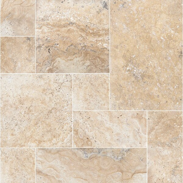 Philadelphia Random Sized Travertine Field Tile in Beige by Parvatile