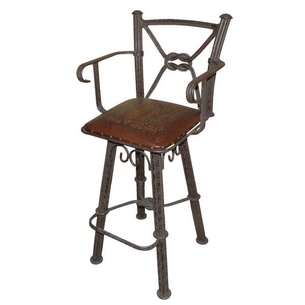 Lower Vobster 30 Swivel Bar Stool (Set of 2) by 17 Stories