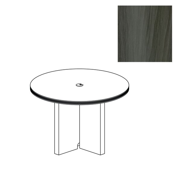 Aberdeen Circular 29.5H x 42W x 42L Conference Table by Mayline Group