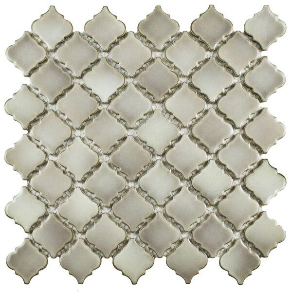 Pharsalia 2 x 2.25 Porcelain Mosaic Tile in Dove by EliteTile