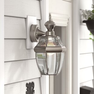 Coupon Larchmont Traditional 1-Light Outdoor Wall Lantern By Three Posts