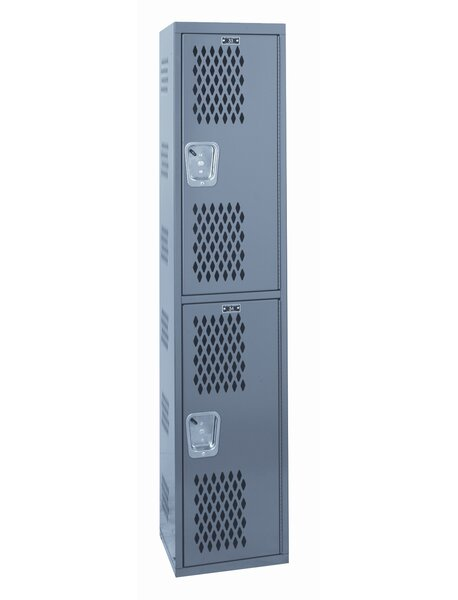 Welded 2 Tier 1 Wide Gym Locker by Hallowell