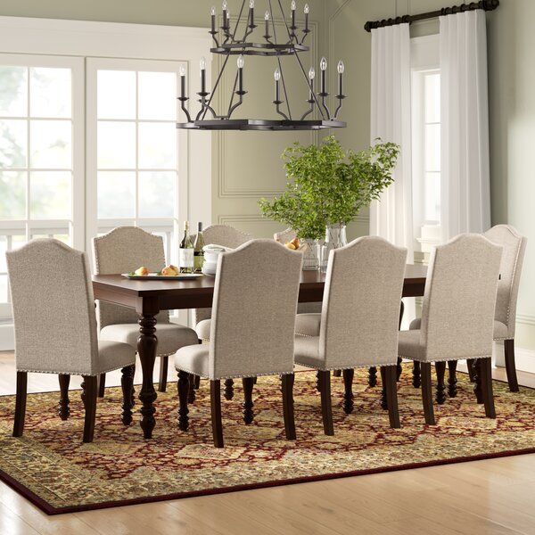 Calila 9 Piece Drop Lea Dining Set by Birch Lane™ Heritage