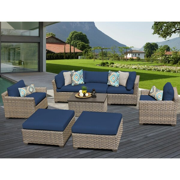 Rochford 8 Piece Sofa Seating Group with Cushions by Sol 72 Outdoor
