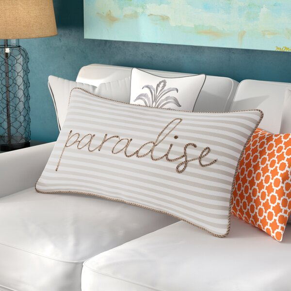 Java Woven Stripe Paradise Decorative Cotton Lumbar Pillow by Beachcrest Home