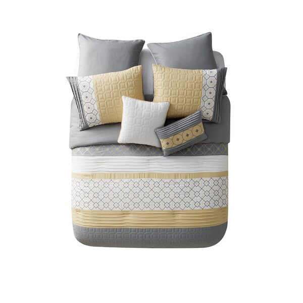 Hansford 7 Piece Comforter Set by Mercury Row
