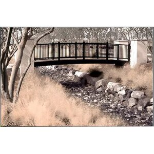 'Bridge Over Wash' Framed Photo Graphic Print on Canvas by Zipcode Design