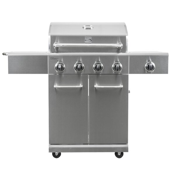 5-Burner Convertible Gas Grill with Side Burner by Kenmore