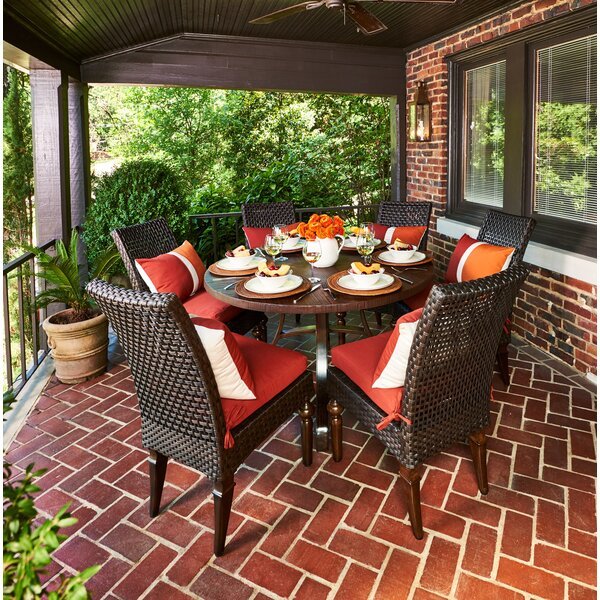 Somerby 7 Piece Sunbrella Dining Set with Cushions by Peak Season Inc.