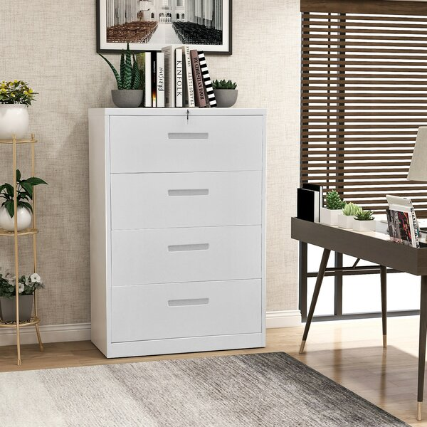 Adreonna Homeoffice Metal Steel 4 Drawer Vertical Filing Cabinet
