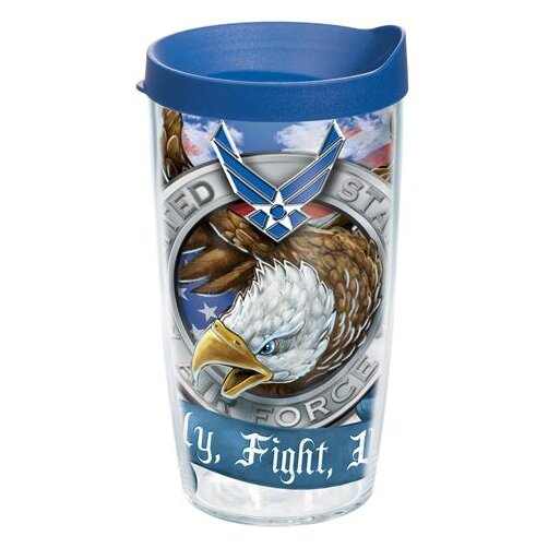 Patriotic Air Force Eagle Plastic Travel Tumbler by Tervis Tumbler
