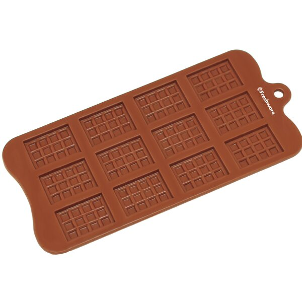 12 Cavity Mini Rectangle Waffle Silicone Mold Pan by Freshware