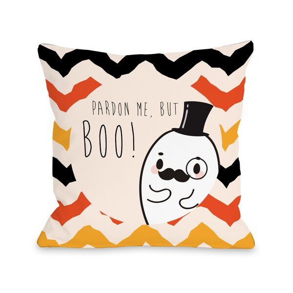 Fancy Ghost Boo Throw Pillow by One Bella Casa