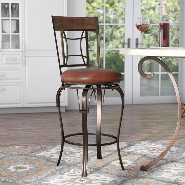 Snoqualmie 30 Swivel Bar Stool by Red Barrel Studio