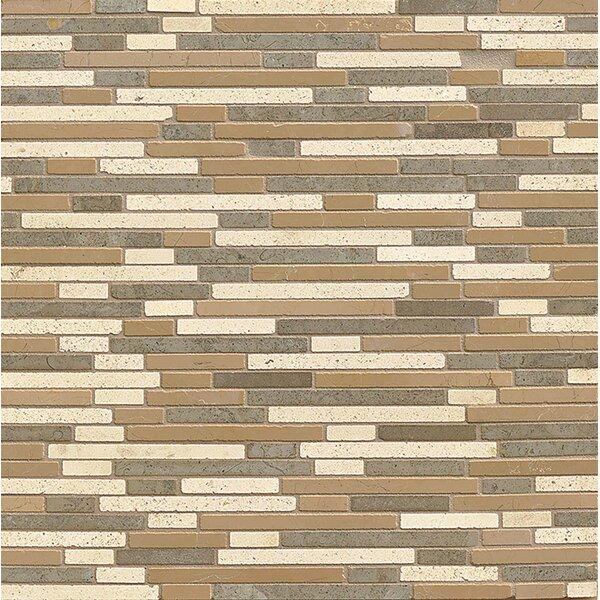 Random Sized Limestone Mosaic Tile in Honed Blend by Bedrosians