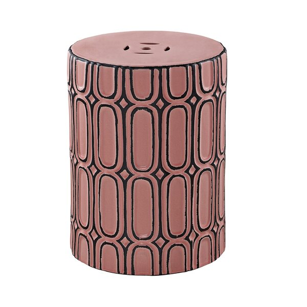 Mossley Ceramic Garden Stool by Bungalow Rose