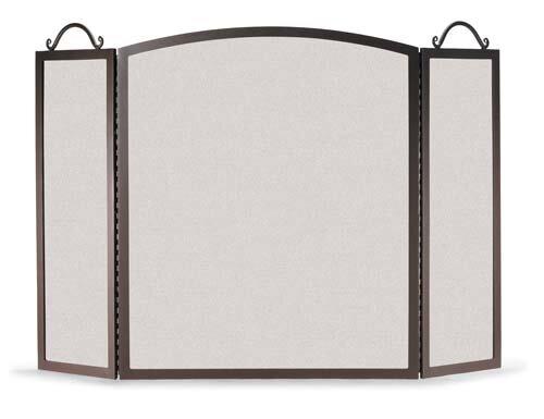 3 Panel Steel Fireplace Screen By Pilgrim Hearth