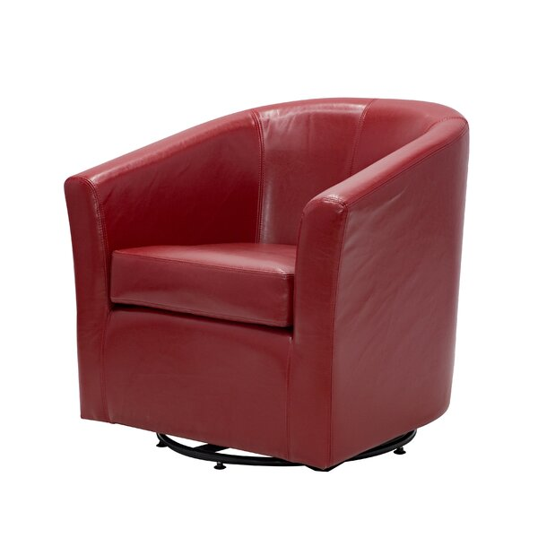 Maughan Swivel Barrel Chair by Ivy Bronx