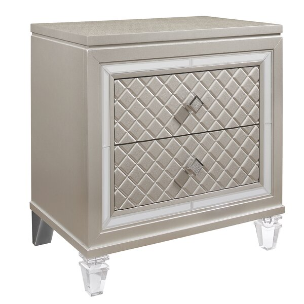 Lancaster 2 Drawer Nightstand by Rosdorf Park