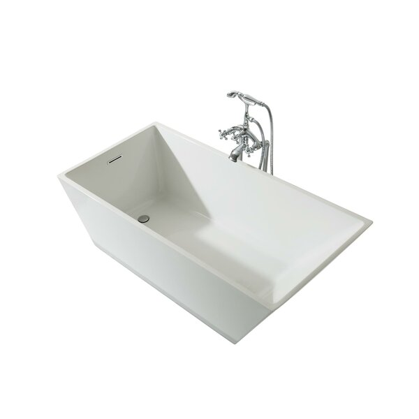 Verona Platinum 67 x 31 Freestanding Soaking Bathtub by Ariel Bath